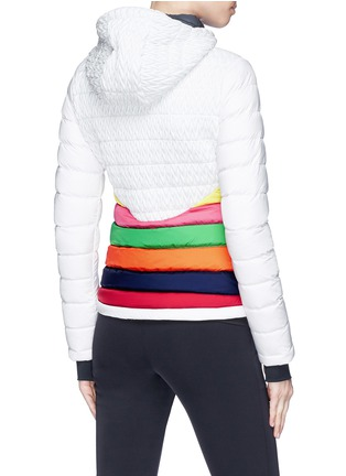 Back View - Click To Enlarge - Perfect Moment - 'Vale' rainbow stripe down puffer jacket