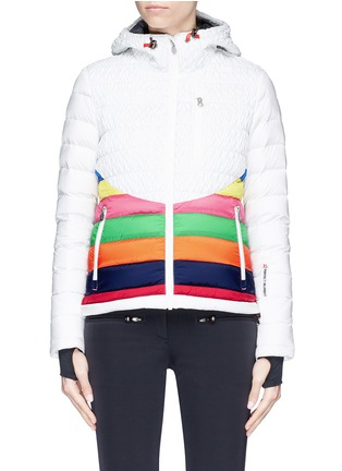 Main View - Click To Enlarge - Perfect Moment - 'Vale' rainbow stripe down puffer jacket