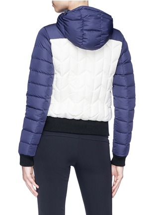 Back View - Click To Enlarge - Perfect Moment - 'Cordon' colourblock down puffer jacket