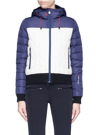 Main View - Click To Enlarge - Perfect Moment - 'Cordon' colourblock down puffer jacket
