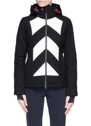 Main View - Click To Enlarge - Perfect Moment - 'Tignes' colourblock stripe ski jacket
