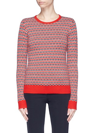 Main View - Click To Enlarge - Perfect Moment - 'Frequency' stripe extra fine Merino wool sweater