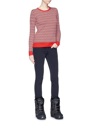 Figure View - Click To Enlarge - Perfect Moment - 'Frequency' stripe extra fine Merino wool sweater