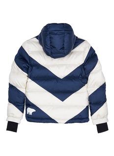 Perfect Moment 'Super Mojo' chevron stripe kids down puffer jacket