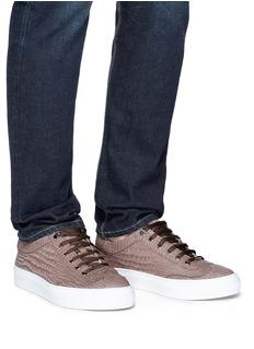 JIMMY CHOO Ace鳄鱼纹理真皮运动鞋