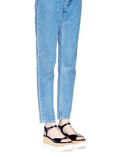 Stella McCartney'Felik' wooden wedge platform faux leather sandals