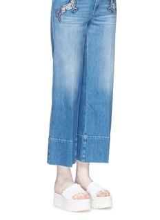 Stella McCartneyRuffle alter nappa slide platform sandals