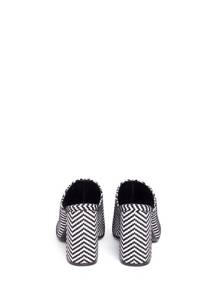 Back View - Click To Enlarge - Stella McCartney - Woven chevron stripe mules