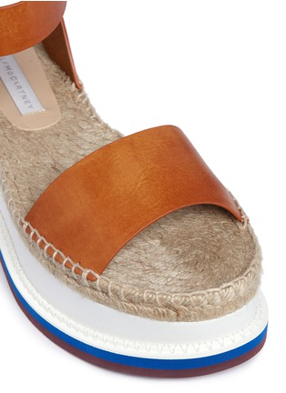 Detail View - Click To Enlarge - Stella McCartney - Ankle strap raffia wedge sandals
