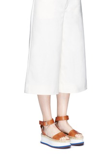 Stella McCartneyAnkle strap raffia wedge sandals