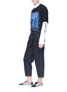 doublet Asymmetric waist cotton-silk jeans