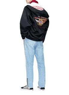 doublet Graphic embroidered zip hoodie