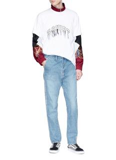 doublet Fringe slogan embroidered T-shirt