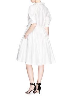 Lanvin Ruffle trim drawstring flared poplin dress