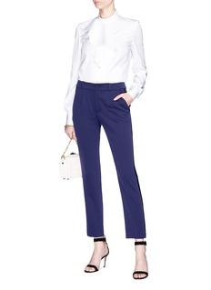 Lanvin Contrast outseam wool tuxedo pants