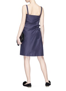 Lanvin Asymmetric ruffle poplin dress