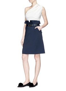 Lanvin Paperbag waist stretch cady skirt