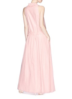 Lanvin Drawstring ruffle voile maxi dress