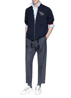 Lanvin Dinosaur embroidered polo shirt