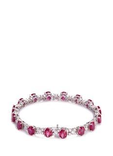 LC Collection Diamond ruby 18k white gold bracelet