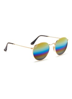 RAY-BAN 'RB3447' round metal mirror sunglasses