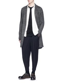 DEVOA Split hem linen-cotton long cardigan