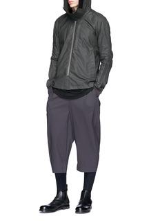 DEVOA Layered cuff silk jogging pants