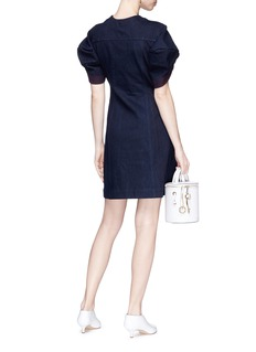 Minki Puff sleeve denim mini dress