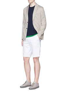 TomorrowlandContrast edge cotton knit T-shirt