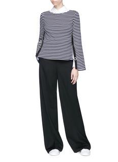 Ports 1961 Split stripe long sleeve T-shirt