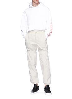 FENG CHEN WANG 抽绳细节尼龙休闲裤