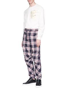 Feng Chen Wang Tartan plaid wool jogging pants
