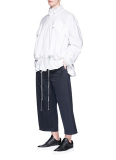 Feng Chen Wang Cropped twill jogging pants