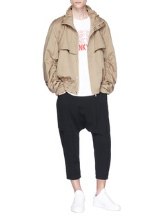 Feng Chen Wang Ruched sleeve twill coach jacket