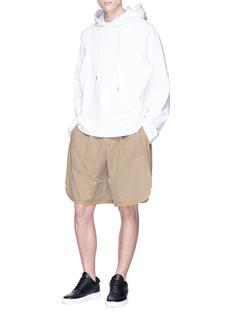 Feng Chen Wang Zip outseam twill shorts