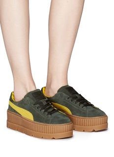 Puma 'Cleated Creeper' suede platform sneakers