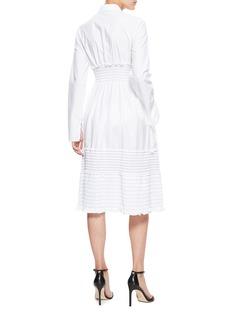 ALTUZARRA Louane褶裥木耳边条纹衬衫裙