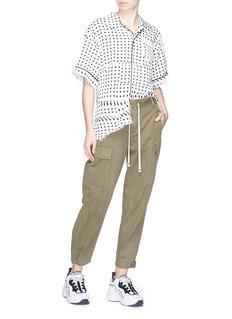 FACETASM Distressed dot print pyjama blouse