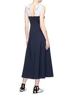 Gabriela Hearst 'Seraphine' stripe poplin yoke corset maxi dress