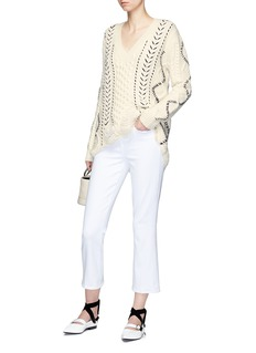 Gabriela Hearst 'Dorian' stitched distressed sweater