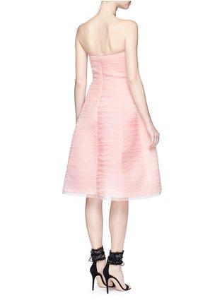 Back View - Click To Enlarge - Oscar de la Renta - Pleated silk organza strapless dress