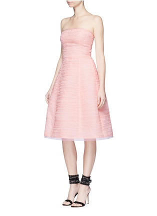 Figure View - Click To Enlarge - Oscar de la Renta - Pleated silk organza strapless dress