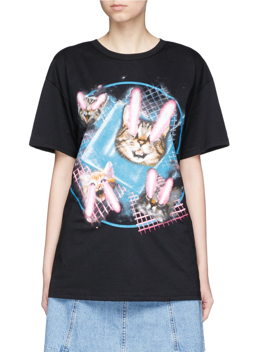 marc jacobs female  lazer cat jersey tshirt