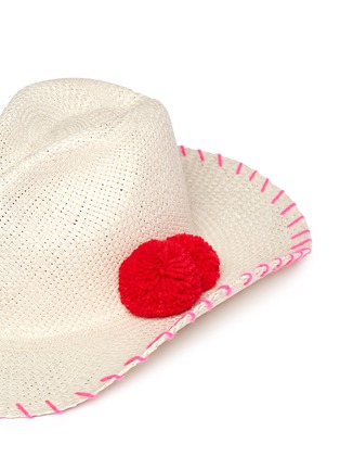 Detail View - Click To Enlarge - Sensi Studio - Pompom panama straw hat