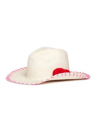 Figure View - Click To Enlarge - Sensi Studio - Pompom panama straw hat