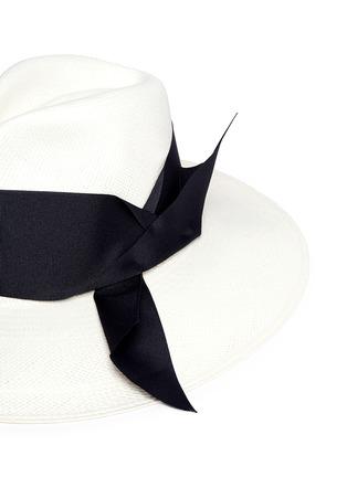 Detail View - Click To Enlarge - Sensi Studio - Ribbon panama straw hat