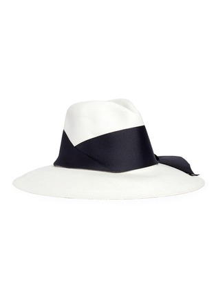 Main View - Click To Enlarge - Sensi Studio - Ribbon panama straw hat