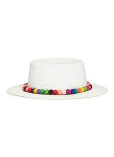 Sensi Studio 'Hippie Andes' pompom panama straw hat