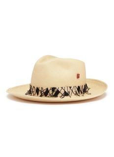 My Bob 'Tiebele' beaded straw hat