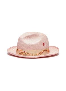MY BOB 珠饰帽带编织剑麻爵士帽